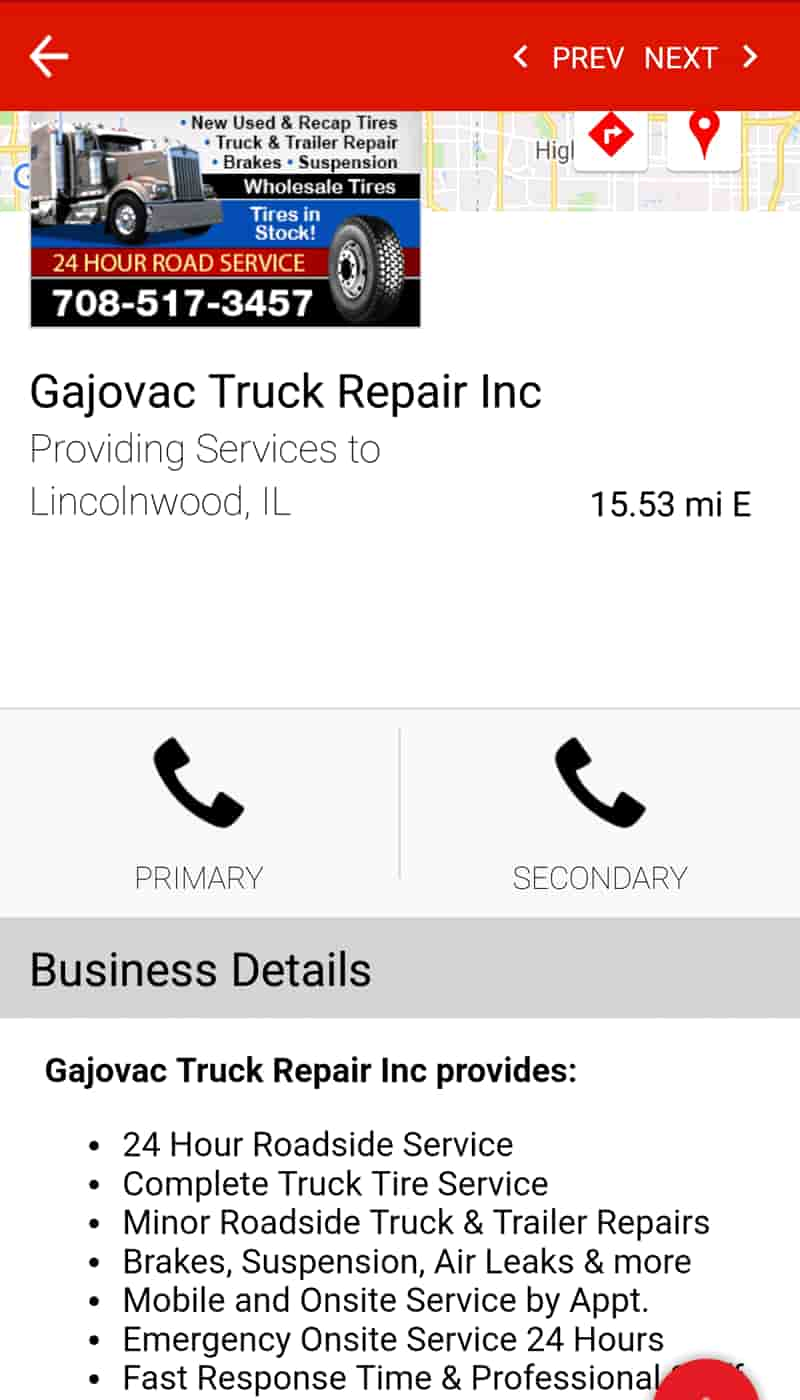 Find Truck Service & Stops